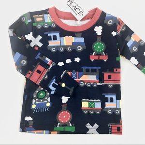"""""""Trains"""" baby shirt brand new"""